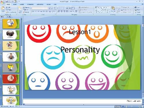2051911 - پاورپوینت درس اول زبان انگلیسی پایه نهم Talking about Personality